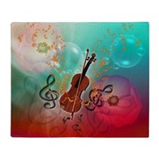 Violin with violin Throw Blanket