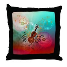 Violin with violin Throw Pillow