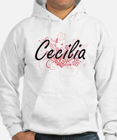 Cecilia Artistic Name Design wit Hoodie