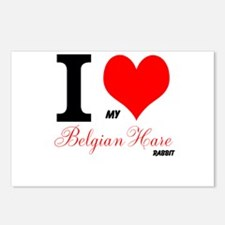 I heart my Belgian Hare Postcards (Package of 8)