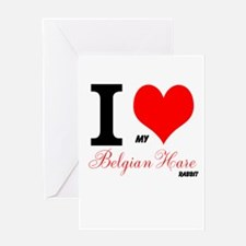 I heart my Belgian Hare Greeting Cards