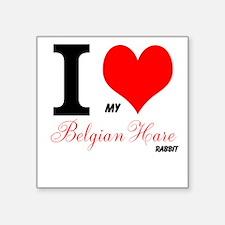 I heart my Belgian Hare Sticker