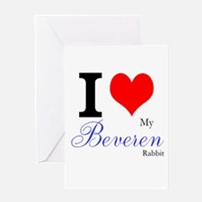 I heart my Beveren Greeting Cards