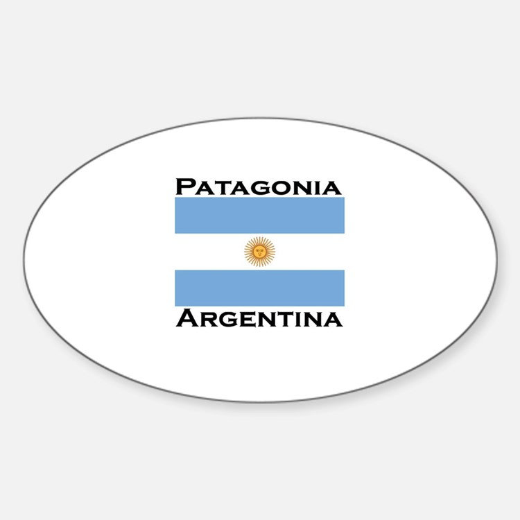 Patagonia, Argentina Oval Decal
