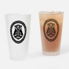 Thor's Hammer in Celtic Knot Circle Drinking Glass