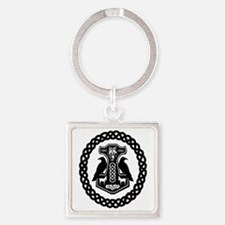 Thor's Hammer In Celtic Knot Circle Keychains