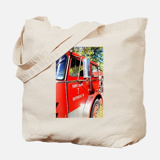 Cute Fire trucks Tote Bag