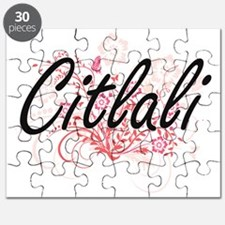 Citlali Artistic Name Design with Flowers Puzzle