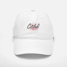 Citlali Artistic Name Design with Flowers Baseball Baseball Cap