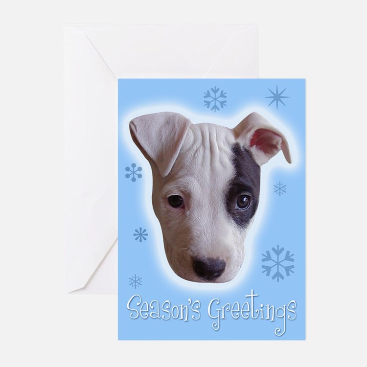 Cute Pit bull rescue central Greeting Cards (Pk of 20)