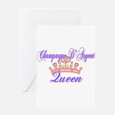 Champagne Queen Greeting Cards