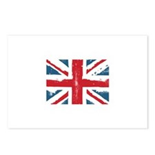 union jack faded Postcards (Package of 8)