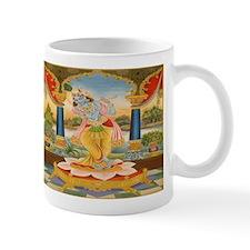 Krishna On Lotus Blossom Mug