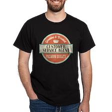 customer service agent vintage logo T-Shirt
