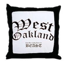 West Oakland Throw Pillow