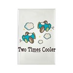 Cooler Twin Boys Airplane Rectangle Magnet (100 pa