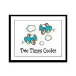 Cooler Twin Boys Airplane Framed Panel Print