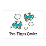 Cooler Twin Boys Airplane Postcards (Package of 8)