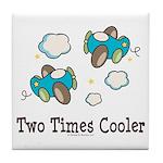 Cooler Twin Boys Airplane Tile Coaster