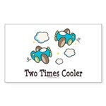 Cooler Twin Boys Airplane Rectangle Sticker