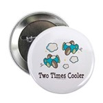 Cooler Twin Boys Airplane Button
