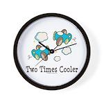 Cooler Twin Boys Airplane Wall Clock
