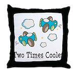 Cooler Twin Boys Airplane Throw Pillow