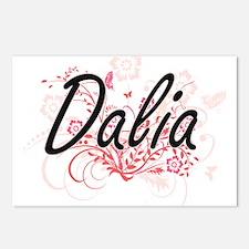 Dalia Artistic Name Desig Postcards (Package of 8)
