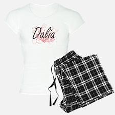 Dalia Artistic Name Design Pajamas