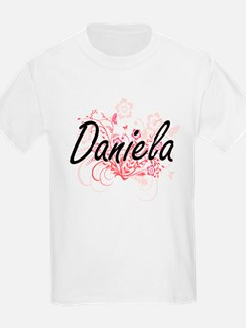 Daniela Artistic Name Design with Flowers T-Shirt
