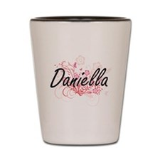 Daniella Artistic Name Design with Flow Shot Glass