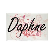 Daphne Artistic Name Design with Flowers Magnets