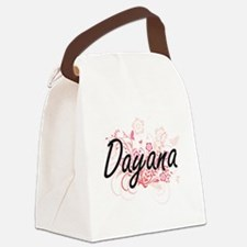 Dayana Artistic Name Design with Canvas Lunch Bag