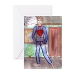 Broken Hearted Jerk Greeting Cards (Pk of 10)