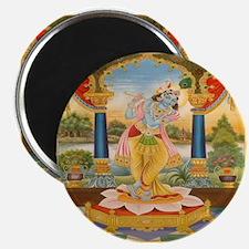 """Krishna On Lotus Blossom 2.25"""" Magnet (10 pack)"""