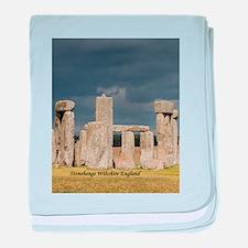 Stonehenge Wiltshire England United K baby blanket