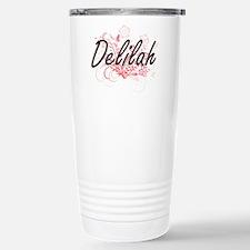 Delilah Artistic Name D Stainless Steel Travel Mug