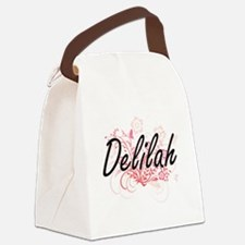 Delilah Artistic Name Design with Canvas Lunch Bag