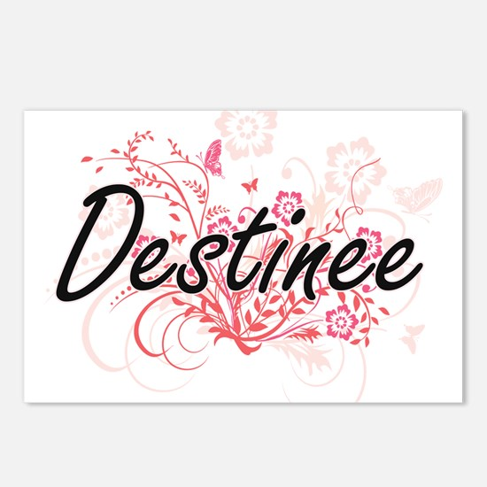 Destinee Artistic Name De Postcards (Package of 8)
