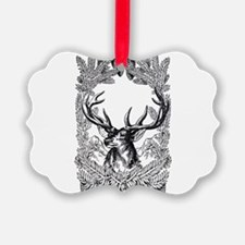 Manly Deer Ornament