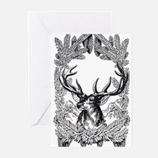 Manly Deer Greeting Cards