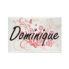 Dominique Artistic Name Design with Flower Magnets