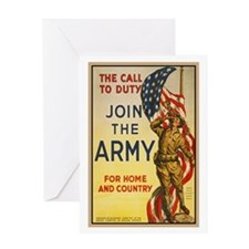 WWI Join the Call to Duty Army Propa Greeting Card