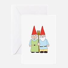 Gardening Gnomes Greeting Cards
