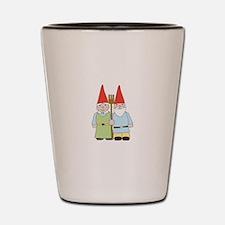 Gardening Gnomes Shot Glass