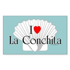I Love La Conchita Rectangle Decal