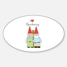 Gardening Gnome Couple Decal