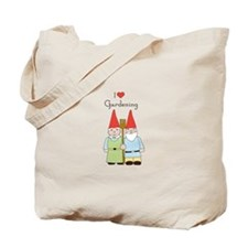 Gardening Gnome Couple Tote Bag
