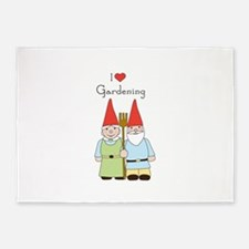 Gardening Gnome Couple 5'x7'Area Rug