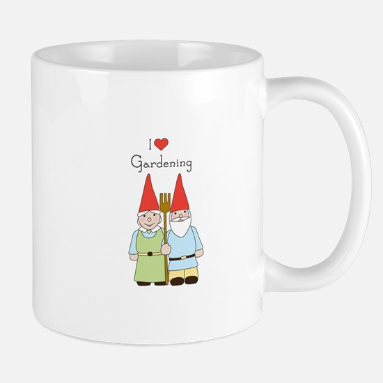Gardening Gnome Couple Mugs